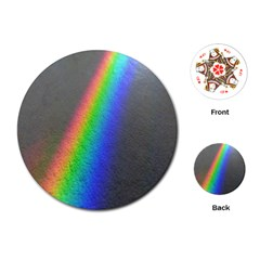 Rainbow Color Spectrum Solar Mirror Playing Cards (round)