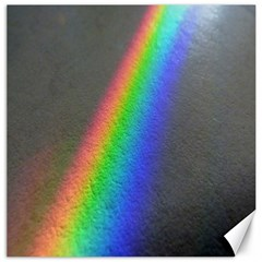 Rainbow Color Spectrum Solar Mirror Canvas 20  X 20