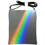 Rainbow Color Spectrum Solar Mirror Shoulder Sling Bags Front