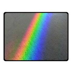 Rainbow Color Spectrum Solar Mirror Fleece Blanket (Small)