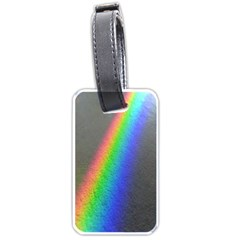 Rainbow Color Spectrum Solar Mirror Luggage Tags (one Side)
