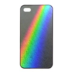 Rainbow Color Spectrum Solar Mirror Apple iPhone 4/4s Seamless Case (Black)