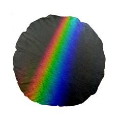 Rainbow Color Spectrum Solar Mirror Standard 15  Premium Round Cushions