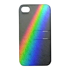 Rainbow Color Spectrum Solar Mirror Apple Iphone 4/4s Hardshell Case With Stand
