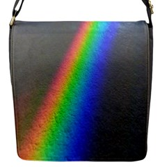 Rainbow Color Spectrum Solar Mirror Flap Messenger Bag (s)