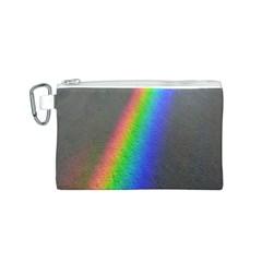 Rainbow Color Spectrum Solar Mirror Canvas Cosmetic Bag (s)