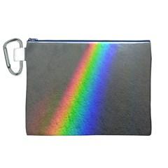 Rainbow Color Spectrum Solar Mirror Canvas Cosmetic Bag (xl)