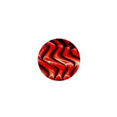 Red Fractal  Mathematics Abstact 1  Mini Buttons