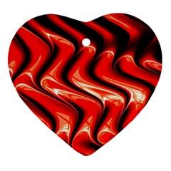 Red Fractal  Mathematics Abstact Ornament (heart)