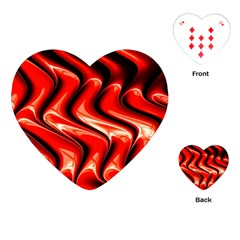 Red Fractal  Mathematics Abstact Playing Cards (Heart)