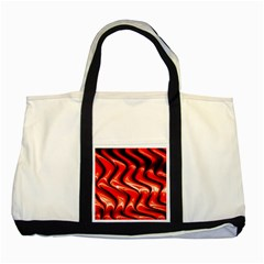 Red Fractal  Mathematics Abstact Two Tone Tote Bag