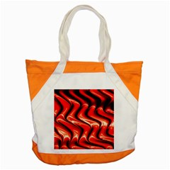 Red Fractal  Mathematics Abstact Accent Tote Bag