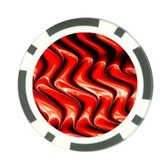 Red Fractal  Mathematics Abstact Poker Chip Card Guard