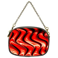 Red Fractal  Mathematics Abstact Chain Purses (one Side)