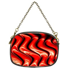 Red Fractal  Mathematics Abstact Chain Purses (Two Sides)