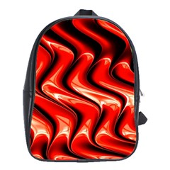 Red Fractal  Mathematics Abstact School Bags(large)