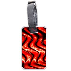 Red Fractal  Mathematics Abstact Luggage Tags (Two Sides)