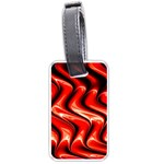 Red Fractal  Mathematics Abstact Luggage Tags (Two Sides) Front
