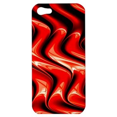 Red Fractal  Mathematics Abstact Apple Iphone 5 Hardshell Case