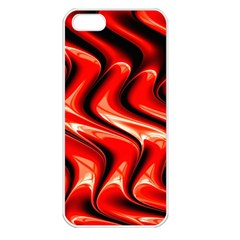 Red Fractal  Mathematics Abstact Apple iPhone 5 Seamless Case (White)