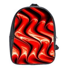 Red Fractal  Mathematics Abstact School Bags (xl)