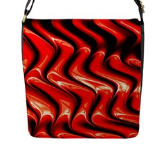 Red Fractal  Mathematics Abstact Flap Messenger Bag (l)