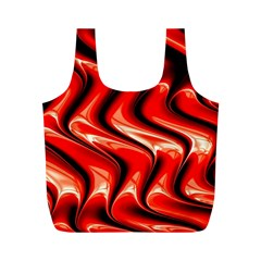 Red Fractal  Mathematics Abstact Full Print Recycle Bags (m)