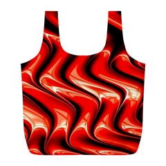 Red Fractal  Mathematics Abstact Full Print Recycle Bags (l)
