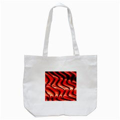 Red Fractal  Mathematics Abstact Tote Bag (white)