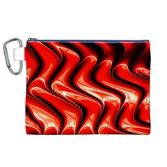 Red Fractal  Mathematics Abstact Canvas Cosmetic Bag (XL)