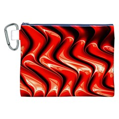 Red Fractal  Mathematics Abstact Canvas Cosmetic Bag (xxl)