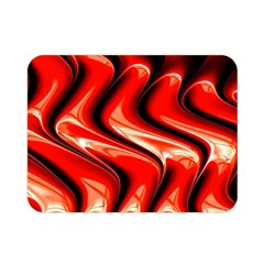 Red Fractal  Mathematics Abstact Double Sided Flano Blanket (Mini)