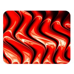 Red Fractal  Mathematics Abstact Double Sided Flano Blanket (large)