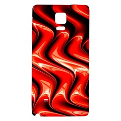 Red Fractal  Mathematics Abstact Galaxy Note 4 Back Case