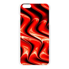 Red Fractal  Mathematics Abstact Apple Seamless iPhone 6 Plus/6S Plus Case (Transparent)