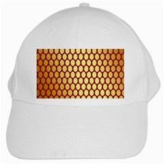Red And Gold Effect Backing Paper White Cap