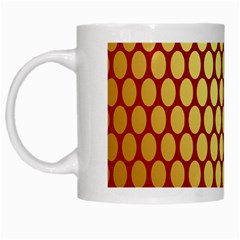 Red And Gold Effect Backing Paper White Mugs