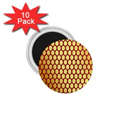 Red And Gold Effect Backing Paper 1.75  Magnets (10 pack)