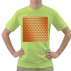 Red And Gold Effect Backing Paper Green T-Shirt