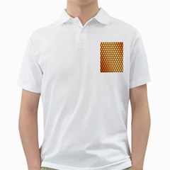 Red And Gold Effect Backing Paper Golf Shirts