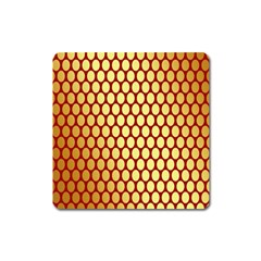 Red And Gold Effect Backing Paper Square Magnet