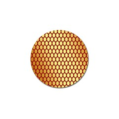 Red And Gold Effect Backing Paper Golf Ball Marker (10 pack)