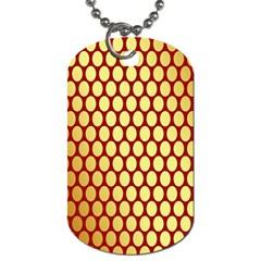 Red And Gold Effect Backing Paper Dog Tag (two Sides)