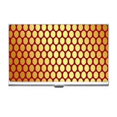 Red And Gold Effect Backing Paper Business Card Holders