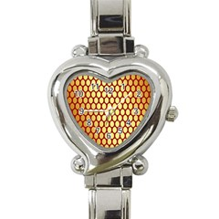 Red And Gold Effect Backing Paper Heart Italian Charm Watch