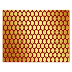 Red And Gold Effect Backing Paper Rectangular Jigsaw Puzzl