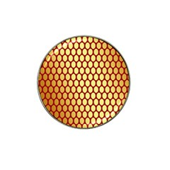 Red And Gold Effect Backing Paper Hat Clip Ball Marker (4 pack)