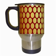Red And Gold Effect Backing Paper Travel Mugs (White)