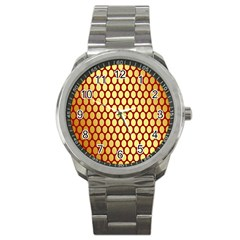 Red And Gold Effect Backing Paper Sport Metal Watch