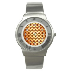 Red And Gold Effect Backing Paper Stainless Steel Watch